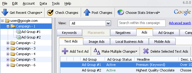 Редактор Adwords Editor